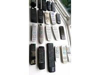 job lot 21 remote controls untested