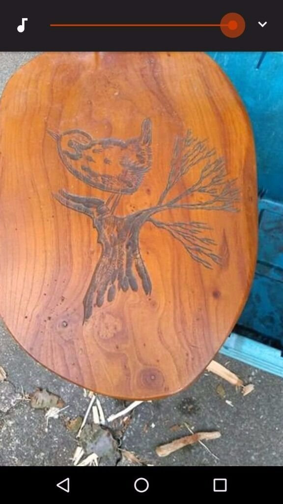 Bonsai stand wall plackin Hucknall, NottinghamshireGumtree - Bonsai stand / wall plack with robin/ bird engraved into it solid wood Collection only