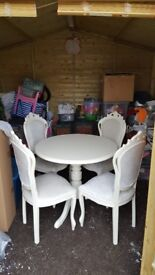 Shabby chic italian style table and 4 chairs