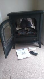 Dimplex Club Log Effect Electric Stove With Remote Control - Black