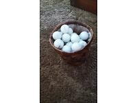 Basket of 44 used Golf Balls