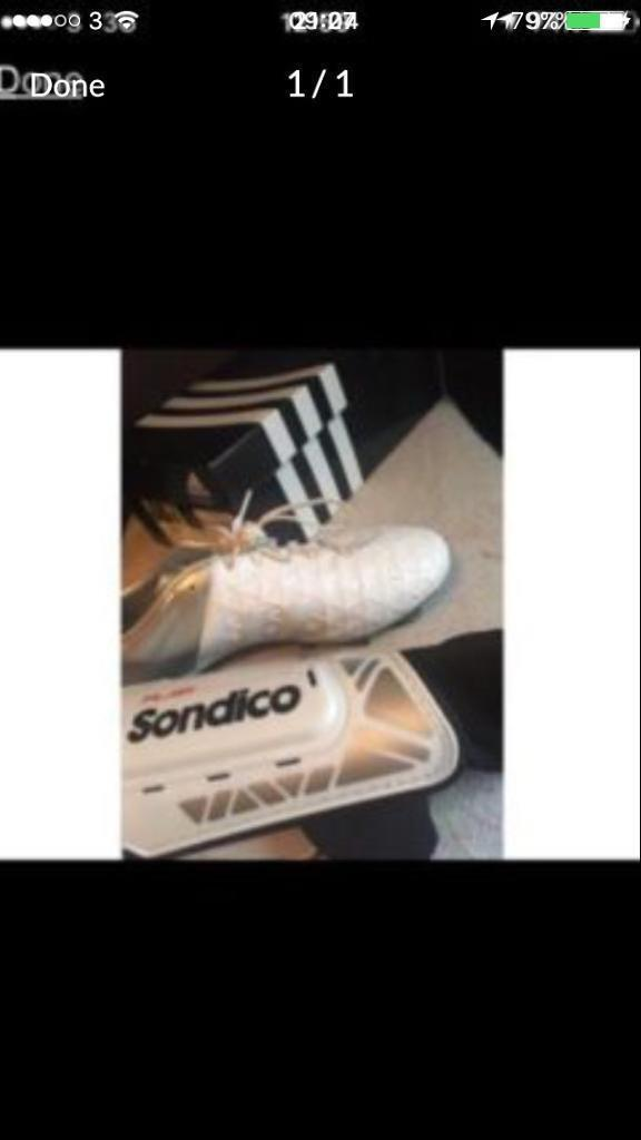Football bootsin Hull, East YorkshireGumtree - Football boots size 7Shin pads medium Socks Looking for £20 for the lot cost me £65 altogether brand new and only worn twice due to not enjoying football enough to carry on playing