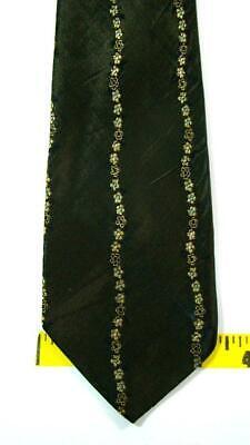 New 1930s Mens Fashion Ties 1930S 40S UNKNOWN OLVIE GOLD FLORA CONTRAST ART DECO SKINNY NECKTIE TIE HFE1819 $8.99 AT vintagedancer.com