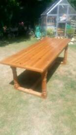 7ft Solid Pine Refectory Dining Kitchen Table