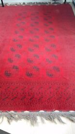 HAND SEWN RED PERSIAN CARPET (3mx2m)