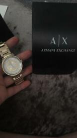 Armani Exchange Ladies Gold Tone Watch