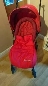 Maxi cosy stroller and footmuff