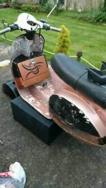 Vespa P200e *m reg* winter project? With logbook. All apart from Speedo, front hub & engine.