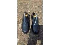 Leather, handmade mens black shoes