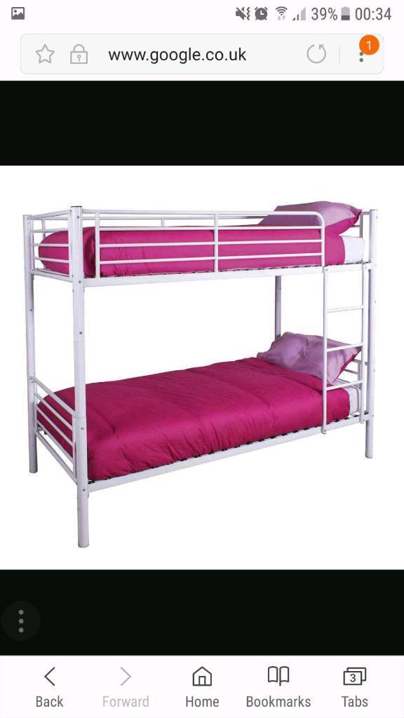Bunk bed with mattressesin Pudsey, West YorkshireGumtree - Bunk bed with mattresses. Bed is nearly new. Mattresses are optional and free