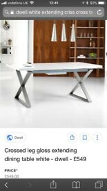 Dwell white dining table