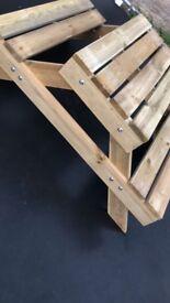 Handmade kids bench