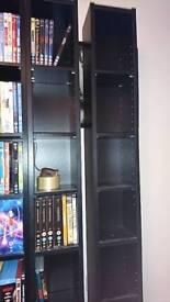 DVD shelves x2