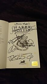 Harry Potter Cast Signed Book JK Rowling Daniel Radcliffe Hardback Emma Watson Half Blood Prince