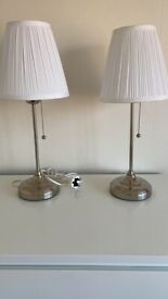 Ikea white table lamps