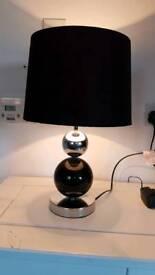 Black/Chrome touch lamp