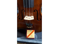 Hidersine Violin with case, Bow, Rosin and shoulder rest