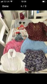 Girl's bundle clothes clothing age 6, tops, shorts,T-shirts blouse or swimsuit/ yoga outfit new!