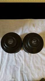 Commercial dumbell dumbbell weight 27.5kg pair