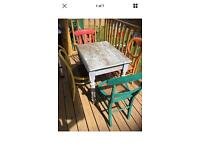 Vintage table and chairs garden furniture open to offers