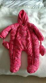 Mama's and Papa's girls snow suit (9-12months)