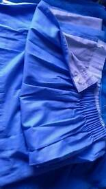 Light blue curtains 168 x 137