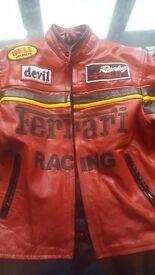 Real leather ferrari jacket