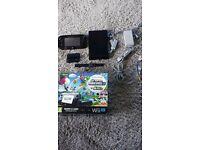 Nintendo Wii U Premium Edition Black 32GB Console + 4 Games (inc. Mario Kart 8) + Official Gamepad