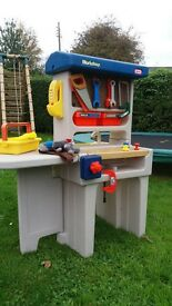 Little Tikes work bench and assorted play tools. £25.
