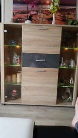 Sideboard cabinet with lights