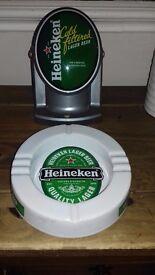 For display-Heineken pump and ashtray