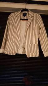 White stripped jacket