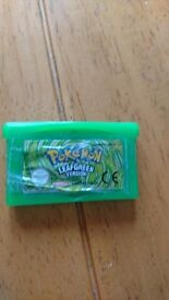 Pokemon Leaf Green Nintendo Gameboy Advance GBA Genuine Working Save PAL