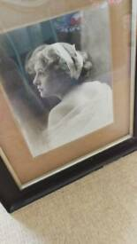 Large framed photo Early 20th century