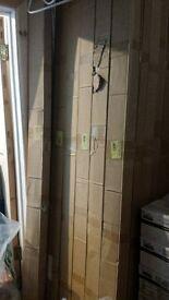 job lot of white plastic tile trim. brand new in boxes