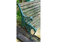 Vintage Wrought Iron Bench Ends