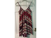 Red, White and Black Swing Dress UK Size: M/L