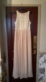 RIVER ISLAND PROM/BRIDESMAIDS DRESS - SIZE 12 - EX COND