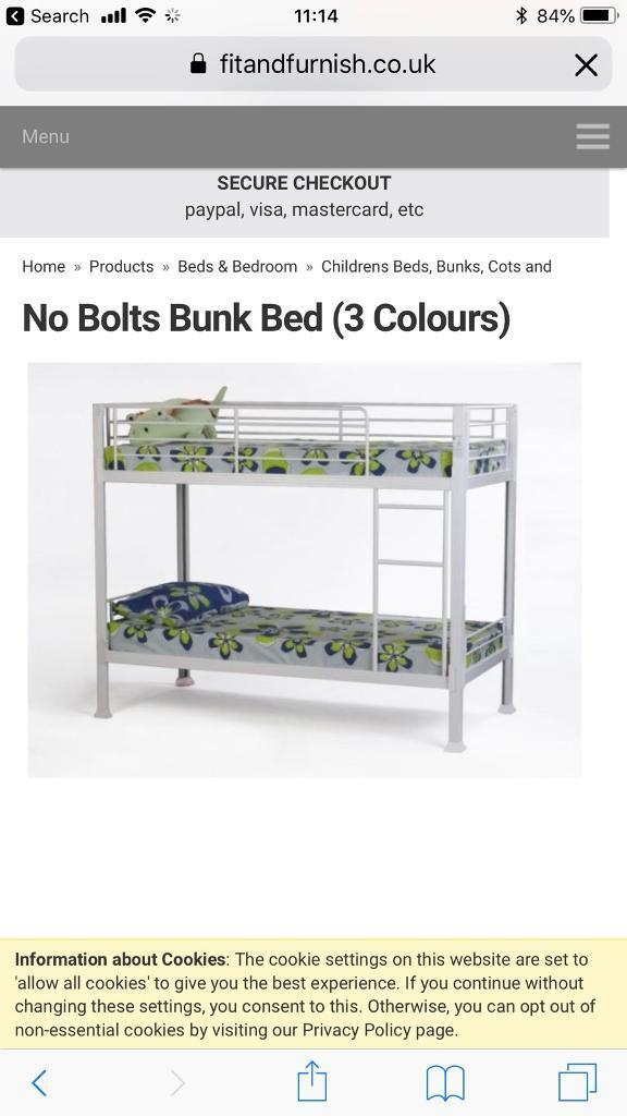 No Bolts White Metal Bunk Beds In Leigh Manchester Gumtree