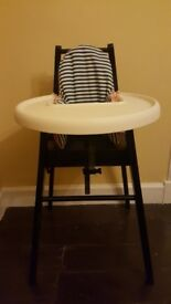 IKEA Blames highchair with tray + PYTTIG supporting cushion and cover