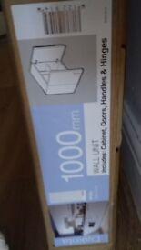 Dakota kitchen wall cabinets each 1000 wide in white