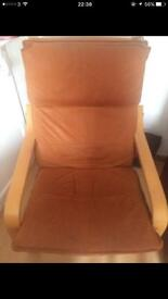 Brown leather swing chair