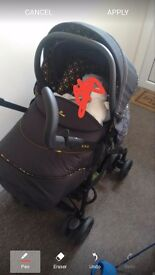 silver cross limited edition stroller / pram and car seat