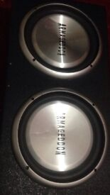 12 inch double subwoofers for sale
