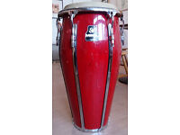 Conga drum. Red Mienl Tumba in excellent playing condition.