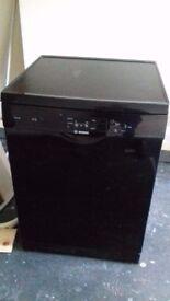 Bosch dishwasher, black, full size, freestanding