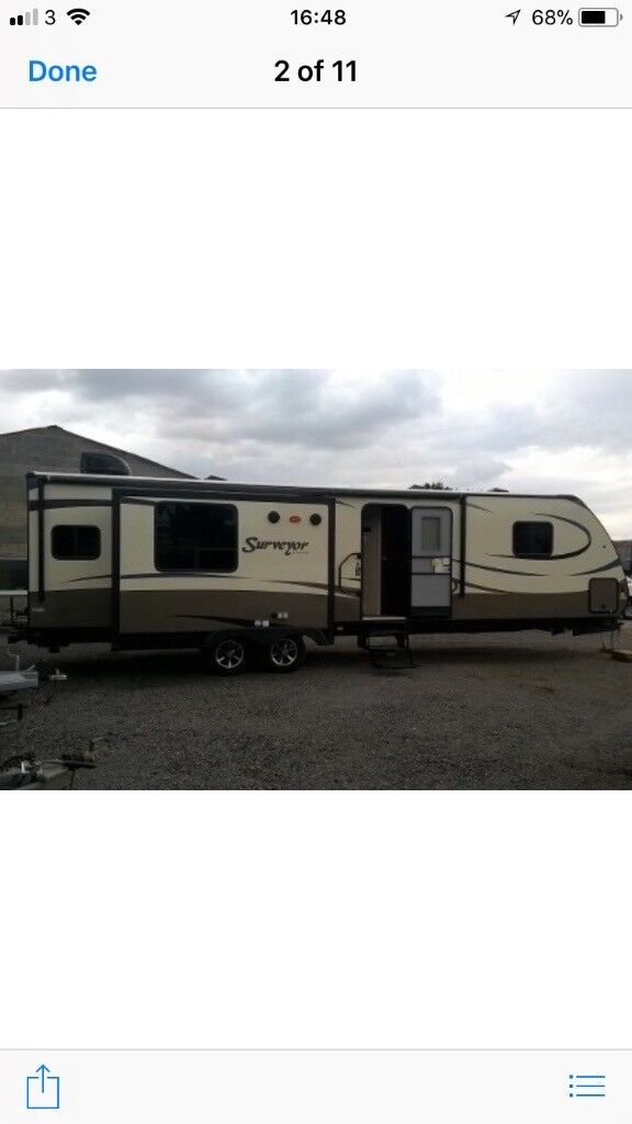 Surveyor 33RLTS, 2017 Model. 4 Berth. Immaculate Condition. Can be towed on normal tow ball.