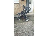 QUINNY SPEEDI BUGGY BLACK WITH NEW FULL RAINCOVER
