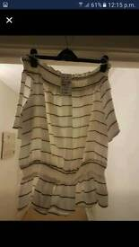 Womens Off the shoulder stripped top size 16