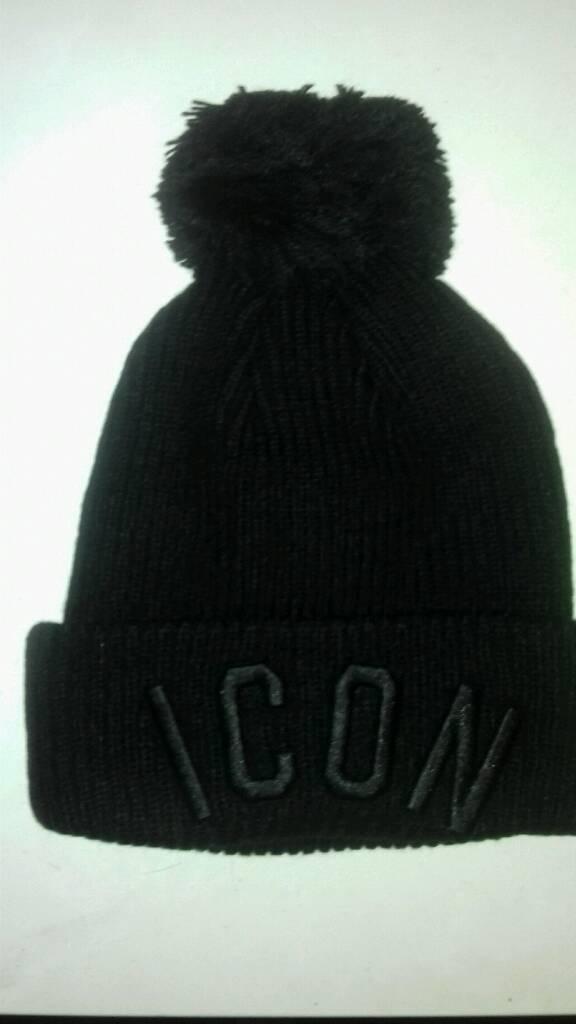 6bbf178e29e Dsquared2 Icon bobble beanie hat